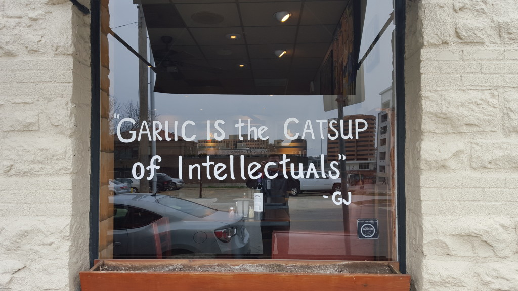 Garlic is the catsup of intellectuals